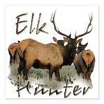 Elk Hunter Square Car Magnet 3