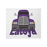 Trucker Latoya Throw Blanket