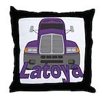 Trucker Latoya Throw Pillow