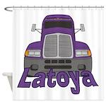 Trucker Latoya Shower Curtain