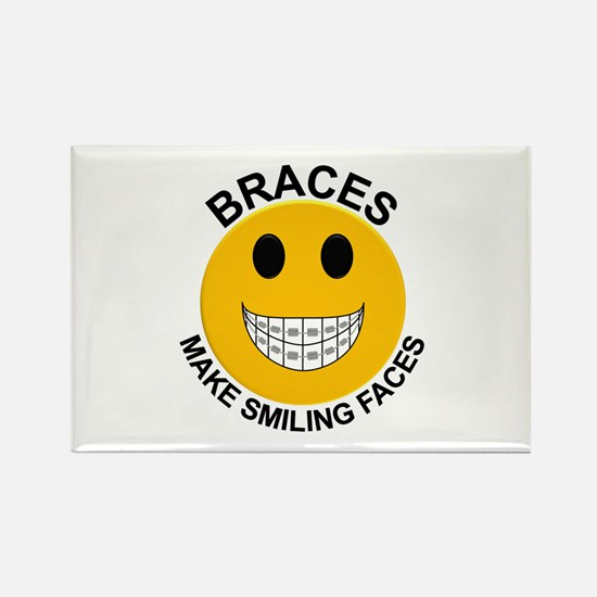 Braces Make Smiling Faces Rectangle Magnet