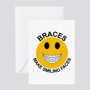 Braces Make Smiling Faces Greeting Card