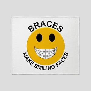 Braces Make Smiling Faces Throw Blanket