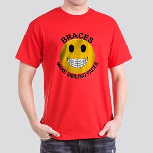 Braces Make Smiling Faces Dark T-Shirt