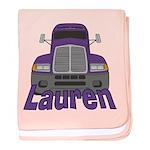 Trucker Lauren baby blanket