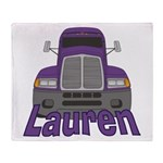 Trucker Lauren Throw Blanket
