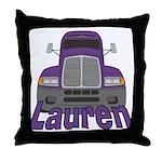 Trucker Lauren Throw Pillow