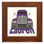 Trucker Lauren Framed Tile