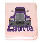 Trucker Laurie baby blanket