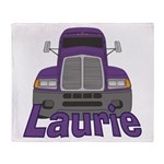 Trucker Laurie Throw Blanket