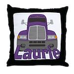 Trucker Laurie Throw Pillow