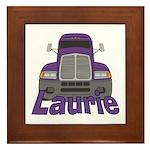 Trucker Laurie Framed Tile