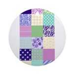 Girly pattern squares Ornament (Round)