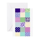Girly pattern squares Greeting Cards (Pk of 20)