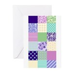 Girly pattern squares Greeting Cards (Pk of 10)