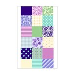 Girly pattern squares Mini Poster Print