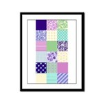 Girly pattern squares Framed Panel Print