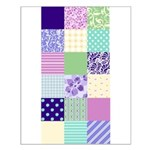 Girly pattern squares Small Poster