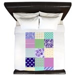 Girly pattern squares King Duvet