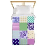 Girly pattern squares Twin Duvet