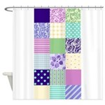 Girly pattern squares Shower Curtain