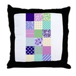 Girly pattern squares Throw Pillow