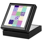 Girly pattern squares Keepsake Box