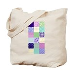 Girly pattern squares Tote Bag