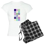 Girly pattern squares Women's Light Pajamas