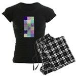 Girly pattern squares Women's Dark Pajamas