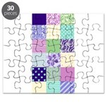 Girly pattern squares Puzzle