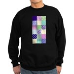 Girly pattern squares Sweatshirt (dark)