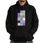 Girly pattern squares Hoodie (dark)