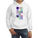 Girly pattern squares Hooded Sweatshirt