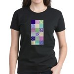 Girly pattern squares Women's Dark T-Shirt