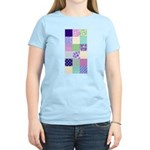 Girly pattern squares Women's Light T-Shirt