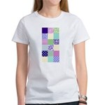 Girly pattern squares Women's T-Shirt