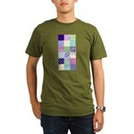 Girly pattern squares Organic Men's T-Shirt (dark)