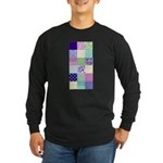Girly pattern squares Long Sleeve Dark T-Shirt