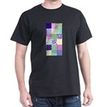 Girly pattern squares Dark T-Shirt