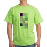 Girly pattern squares Green T-Shirt