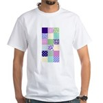 Girly pattern squares White T-Shirt