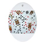 Playing Cards Ornament (Oval)