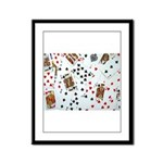 Playing Cards Framed Panel Print