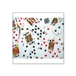Playing Cards Square Sticker 3