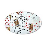 Playing Cards 35x21 Oval Wall Decal