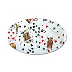 Playing Cards 20x12 Oval Wall Decal