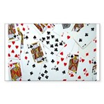 Playing Cards Sticker (Rectangle 10 pk)