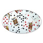 Playing Cards Sticker (Oval 50 pk)