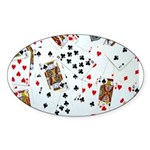 Playing Cards Sticker (Oval)